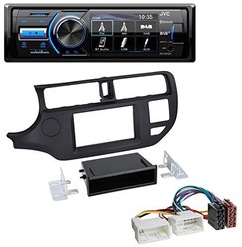 caraudio24 JVC KD-X561DBT Bluetooth MP3 USB DAB Autoradio für Kia Rio (UB 2011-2014) schwarz Rio Mp3