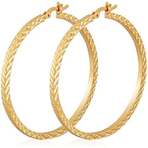 2016 Ultimo platino Zirconia pavimenta Onda Orecchini a cerchio per le donne ragazze adolescenti-girls, 1.9