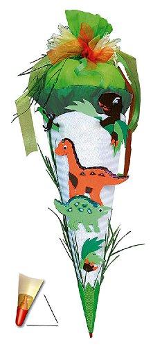 BASTELSET Schultüte - Dinosaurier 85 cm - mit Holzspitze - Zuckertüte Roth - ALLE Größen - 6 eckig Saurier DInos T-Rex Jungen