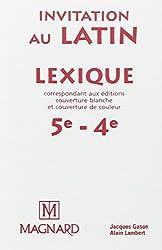 Lexique invitation au latin 5e et 4e