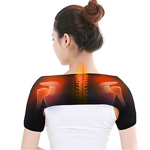 QIYU Schulter- und Nackenheizkissen, Heizkissen für Rücken Nacken Schulter, elektrisches Heizkissen, Überhitzungsschutz Senioren, Fördern Sie Ihre Durchblutung