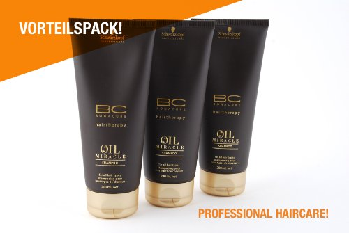 Schwarzkopf Lot de 3 shampoings BC Oil Miracle 200 ml