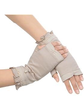 Nueva Kenmont Mujeres Lady Chica Verano Protección UV 100% algodón encaje Sun manoplas talla única