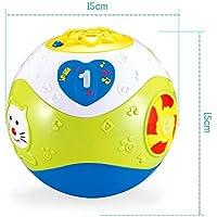 Preisvergleich für Baby-lustiges Spielzeug Schleichende Musik der Kinder kriechender Ball-Spielzeug-Ball-elektrisches Puzzlespiel-Musik-Tanzen-Ball