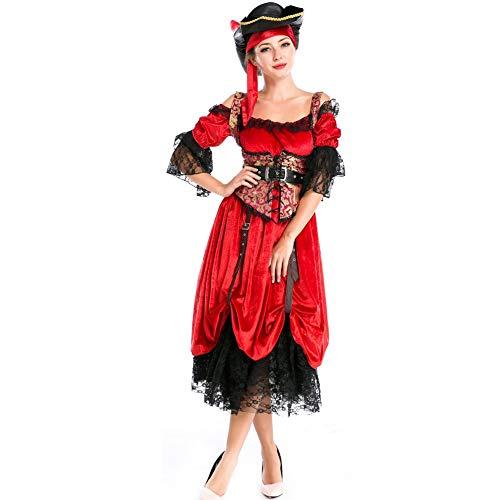 T682541 Halloween Kostüm Piraten Braut Sexy Earl Kostüm Kleid Polyester Cosplay Halloween Dress Up (Langer Rock Und - Dress Up Braut Kostüm