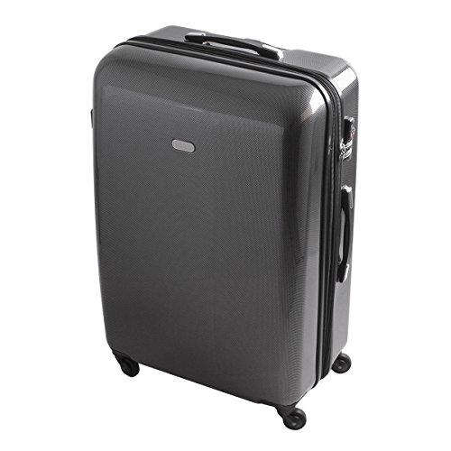 XXL Hartschalen Reise Koffer Reisekoffer Trolley TSA Zahlenschloss 110 Liter Carbon Style 820