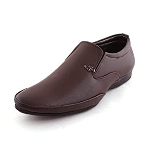 ALESTINO Formal Shoes For Men Leather Formal Shoes FF29 Brown
