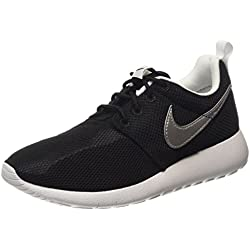 Nike Roshe One GS Zapatillas, Unisex Infantil, Negro (Black/Metallic Silver/White/White), 38 EU (5 UK)