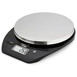 Smart Weigh Raffinierte, multifunktionelle Küchen- und Lebensmittel-Waage mit Edelstahl-Plattform, großem LCD-Display und sechs Wiegeeinstellungen, 5kg / 11lb x 1g / 0,1 Unzen