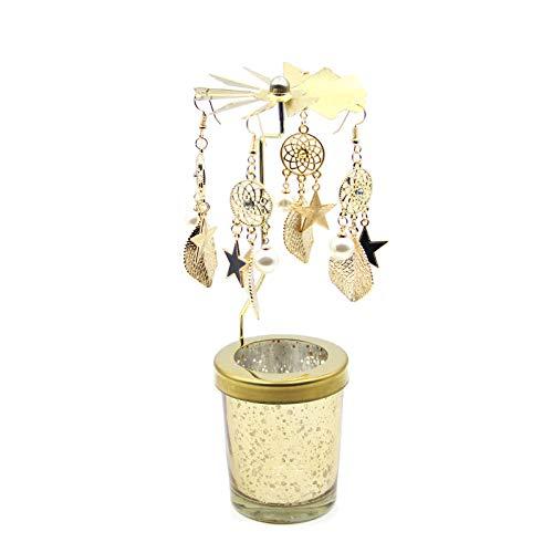 Fugeges Decoracion Ceramicaaromaterapia Vela Perfumada Europea Atrapasueños Giratorio Candelabro Caminar Caballo Romántico A La Luz De Las Velas Accesorios De La Cena Decoración De La Taza