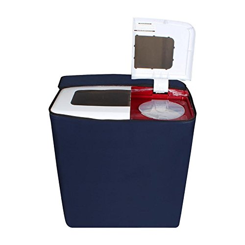 Stylista Washing Machine Cover for Videocon VS75Z11 Zaara Royale 7.5 kg Semi-Automatic Navy Blue