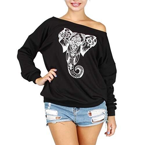 Yesmile Damen Hoodie Sweatshirt Langarmshirt Kapuzenpullover Bekleidung Frauen Top Jumper mit Kapuze Kapuzenpulli Herbst Winter Warm Streetwear