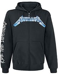 Metallica Ride The Lightning Sweat à capuche zippé noir