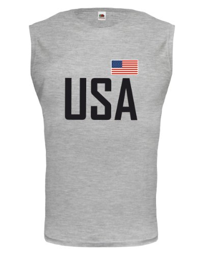 buXsbaum® Tank Top USA Heathergrey-