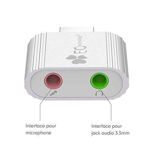 adaptateur audio usb ec technology carte son usb externe vers 3 5mm audio st r o jack pour haut. Black Bedroom Furniture Sets. Home Design Ideas
