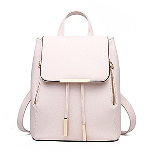 sfpong, Borsa a zainetto donna Brown-04 large beige