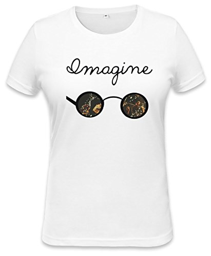 John Lennon Imagine Sunglasses Womens T-shirt Large