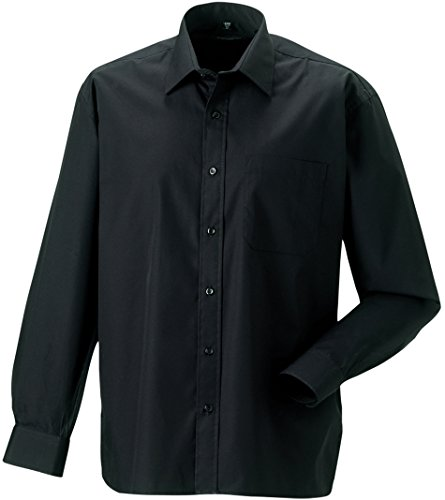 Russell Collection - Chemise en popeline pur coton homme Russel Black