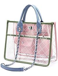 e243014e0bff5 LOVEVOOK Durchsichtige Tasche Damen Handtasche Transparente Tasche für  Frauen
