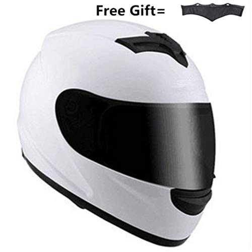 OLEEKA Casco integrale da corsa Casco integrale da casco scuro Casco protettivo integrale moto S M L XL con unisex