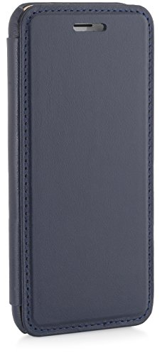 StilGut® Book Type Case, Hülle aus Leder für Apple iPhone 6 (4.7'') iPhone 6 (4.7'') schwarz Dunkelblau Nappa