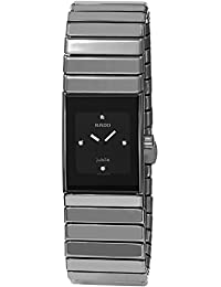 RADO WOMEN'S CERAMIC GREY CERAMIC CASE ANALOG QUARTZ WATCH R21827752 SWISS