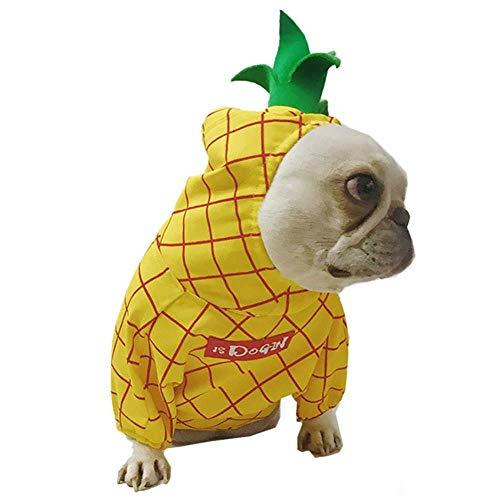 Für Hunde Kostüm Ananas - WINNER POP Halloween Ananas Haustier Kostüm, Für Hunde Und Katzen Weihnachtsfeier Geburtstag Festival Cosplay Kostüme