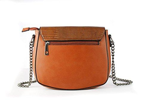 FoxLady ,  Elegant strukturierte Tasche für Frauen Schultertasche Cocoa Brown