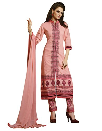 KVSFAB Women's Light Pink Pure Cotton Salwar Kameez[705Ph-2]