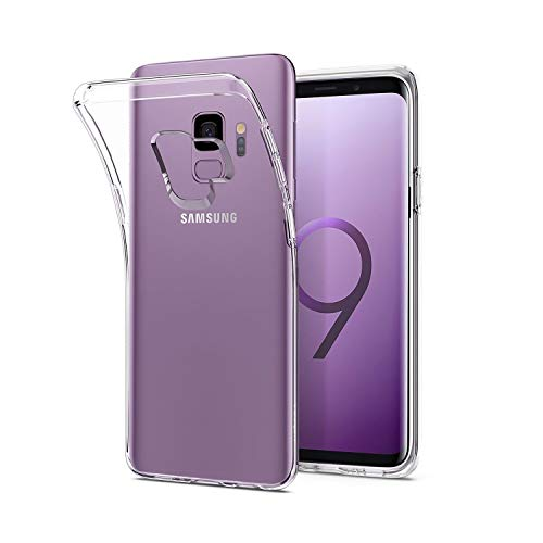 Whew Hülle Kompatibel Samsung Galaxy S9, Ultra Dünn Flexibel Silikon Case Transparent Premium TPU Schutzhülle. Anti-Kratzer, Anti-Dropping Handyhülle Kompatibel Samsung S9