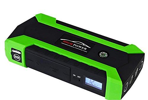 Qinuo Arrancador de Coche 600A 20000mAh Arranque de Batería para Coche (hasta el Motor de Gas de 6,0L o el Diesel de 4,0L) Banco de Energía Portable