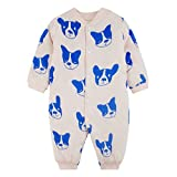 Unisex Neugeborenes Baby Jumpsuit Bodysuit Winter warme Pyjamas Strampler Cartoon Overall One Piece 0-12 Monate