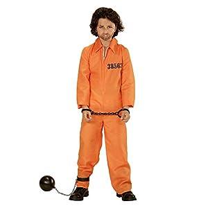 WIDMAN Cárcel del Condado de Preso - Disfraz Infantil - Pequeño - Edad 5-7 - 128cm