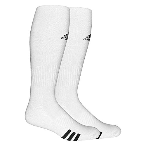 adidas Unisex Rivalry Soccer 2-Pack Otc sock, White/black, Medium (Adidas Elite Sock)