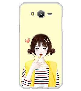 Cute Anime Girl 2D Hard Polycarbonate Designer Back Case Cover for Samsung Galaxy J7 J700F (2015 OLD MODEL) :: Samsung Galaxy J7 Duos :: Samsung Galaxy J7 J700M J700H