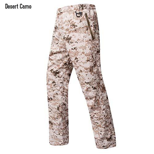 Sommer Haifischhaut Hartschale Tarnung wasserdichte Hosen Männer Hartschale Camo Paintball Tactical Army Cargo Trouser Desert Camo M