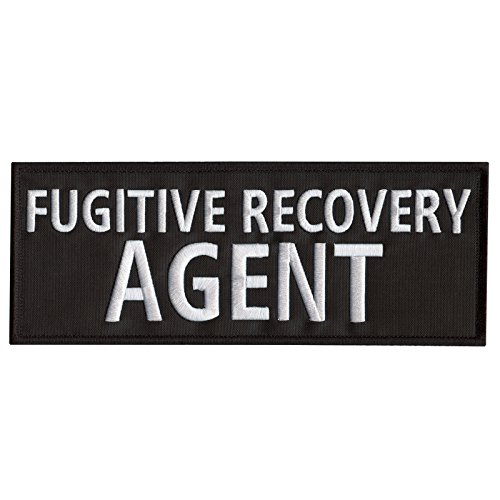 FUGITIVE RECOVERY AGENT Large XL 10'x4' Body Armor Plate Carrier Fastener Aufnäher Patch -