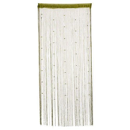Preisvergleich Produktbild Bluelover Nachgeahmte Kristalle Perlen String Vorhang Fenster Diy-Wand-Dekor-Grün