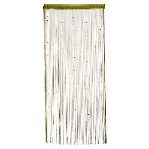 Bluelover Nachgeahmte Kristalle Perlen String Vorhang Fenster Diy-Wand-Dekor-Grün