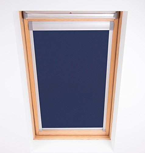 Bloc Skylight Rollo M6 A für Dakstra Dachfenster Blockout, Marineblau
