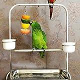 #5: ELECTROPRIME 12cm Stainless Steel Skewer Toy Treat Bird Parrot Food Fruit Holder Stick