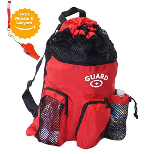 adoretex Lifeguard Mesh Equipment Rucksack-Rot/Schwarz One Size