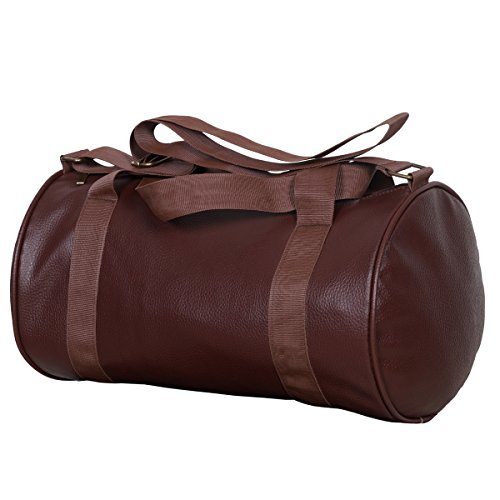 Dee Mannequin Leather Soft Gym Bag (Brown)