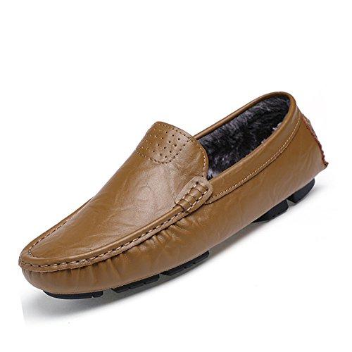 URBANFIND  Boat Shoes,  Herren Durchgängies Plateau Sandalen Khaki Fur-lined