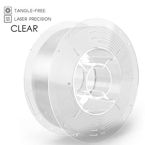 SainSmart PRO-3 Filamento de impresora PETG 3D premium sin enredos 1.75 mm, PETG transparente, carrete de 2.2 LBS (1 kg), precisión dimensional +/- 0.02 mm
