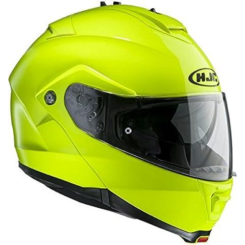HJC MAX ES II Mentonera Deslizante Casco De Moto - Fluorescente, Medium