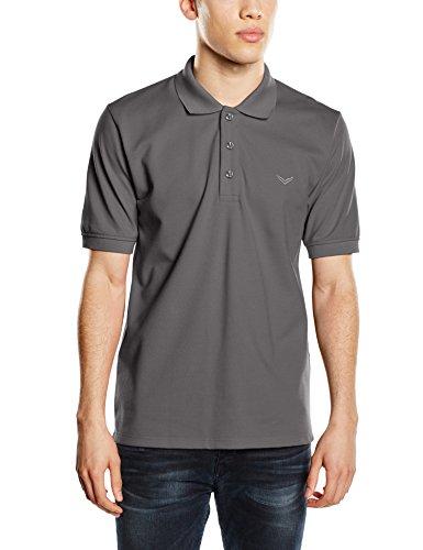 Trigema Herren Poloshirt 621601, Grau (Anthrazit 018), XXXX-Large (Pique Gestickt Golf-shirt)