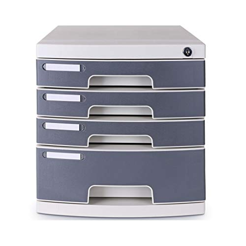 Genug Platz Datei-Halter-Büro-Schreibtisch Schloss Schublade Aktenschrank Multi-Layer-Desktop-Finishing-Datei Office-Storage Box 2 Farbe Optional Gestell Bürobedarf (Color : Five Floors)
