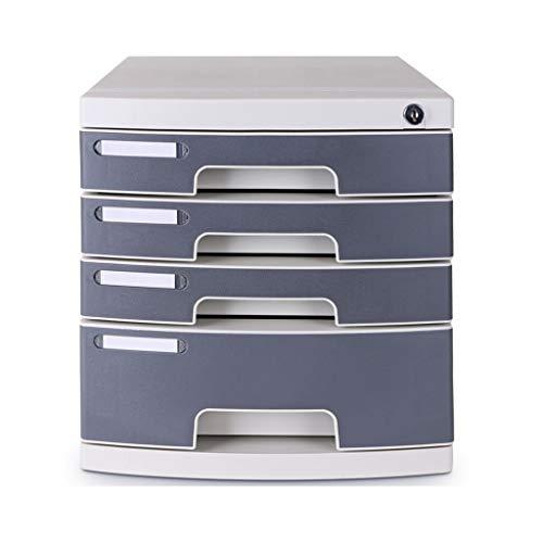 RJJX Home Datei-Halter-Büro-Schreibtisch Schloss Schublade Aktenschrank Multi-Layer-Desktop-Finishing-Datei Office-Storage Box 2 Farbe Optional Gestell (Color : Five Floors)