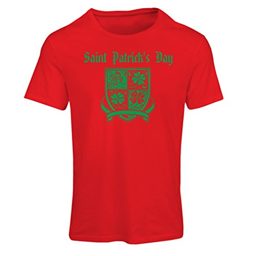 Club Breakfast Kostüm (Frauen T-Shirt Saint Patrick's day Shamrock symbol - Irish party time (XX-Large Rot)
